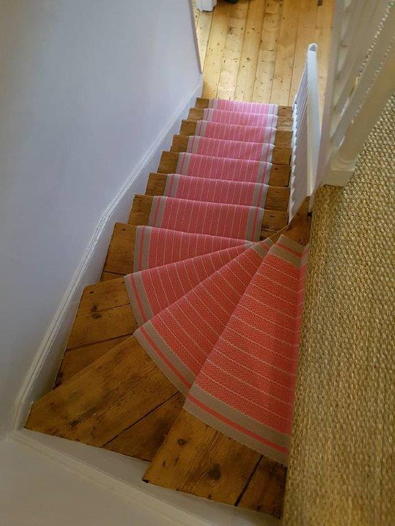 Roger Oates Whitman Bright Rose fitted in a rustic cottage By Sunniva/Hoopers Tunbridge Wells