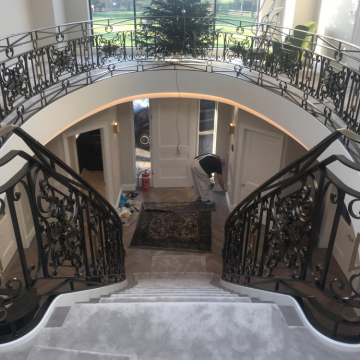 ITC Cannes, Colour Elephant with Brass Stairrods supplied and installed by Arighi Bianchi