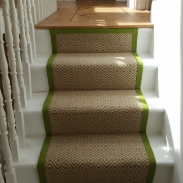Crafty Diamond Staircase supplied and installed by Millbank Carpets