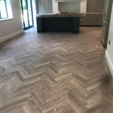 Karndean, Knight Tile, Design Grey Limed Oak supplied and installed by Arighi Bianchi