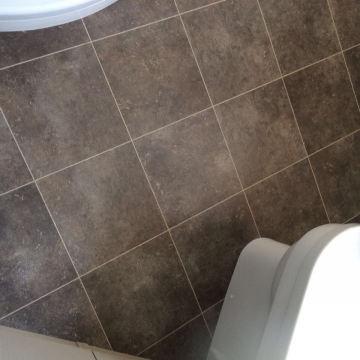 Karndean knight tile, design Orkney T100 with DS15 design strip supplied and installed by Arighi Bianchi