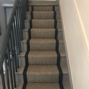 Anywhere Sisal, Design Rope Grey 8061 with Licorice 1019 Border supplied and installed by Arighi Bianchi.