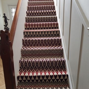 Alternative Flooring - Quirky B Margot Selby Fair Isle Reiko Carpet recently installed by Solihull Flooring.