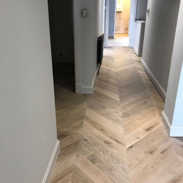 Chevron design Wood Flooring by Millers Flooring _ Scotland
