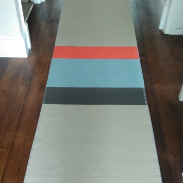 Roger Oates Tapis D'Avignon Wool Felt Bespoke Runners created and supplied by Sunniva Carpeting Tunbridge Wells