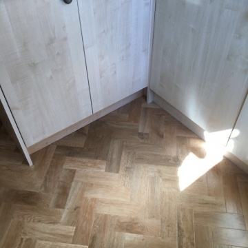 Karndean, Art Select Parquet, Blonde Oak supplied and installed by Arighi Bianchi