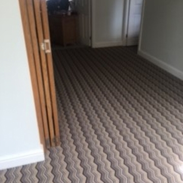 Hugh Mackay Deco Zig zag colour: Marylebone supplied and installed by Justin2carpets&rugs Worcester