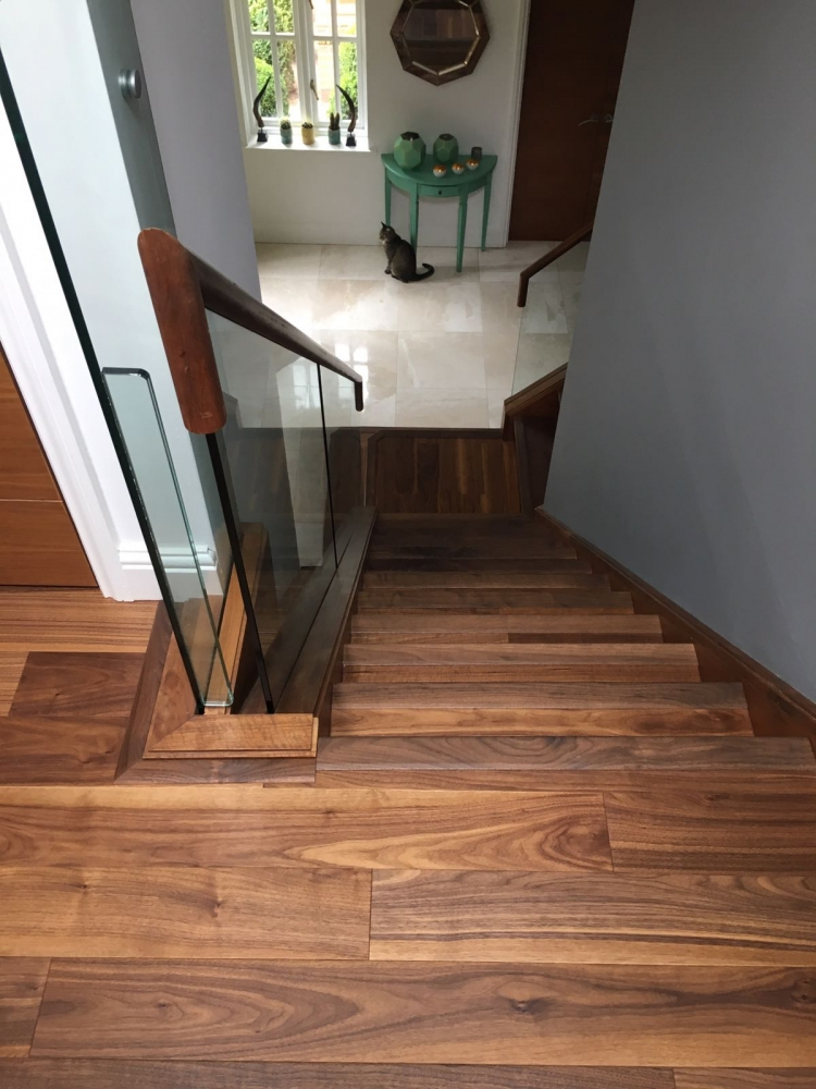 Woodpecker Raglan Oak Walnut Laquered supplied and installed by Arighi Bianchi
