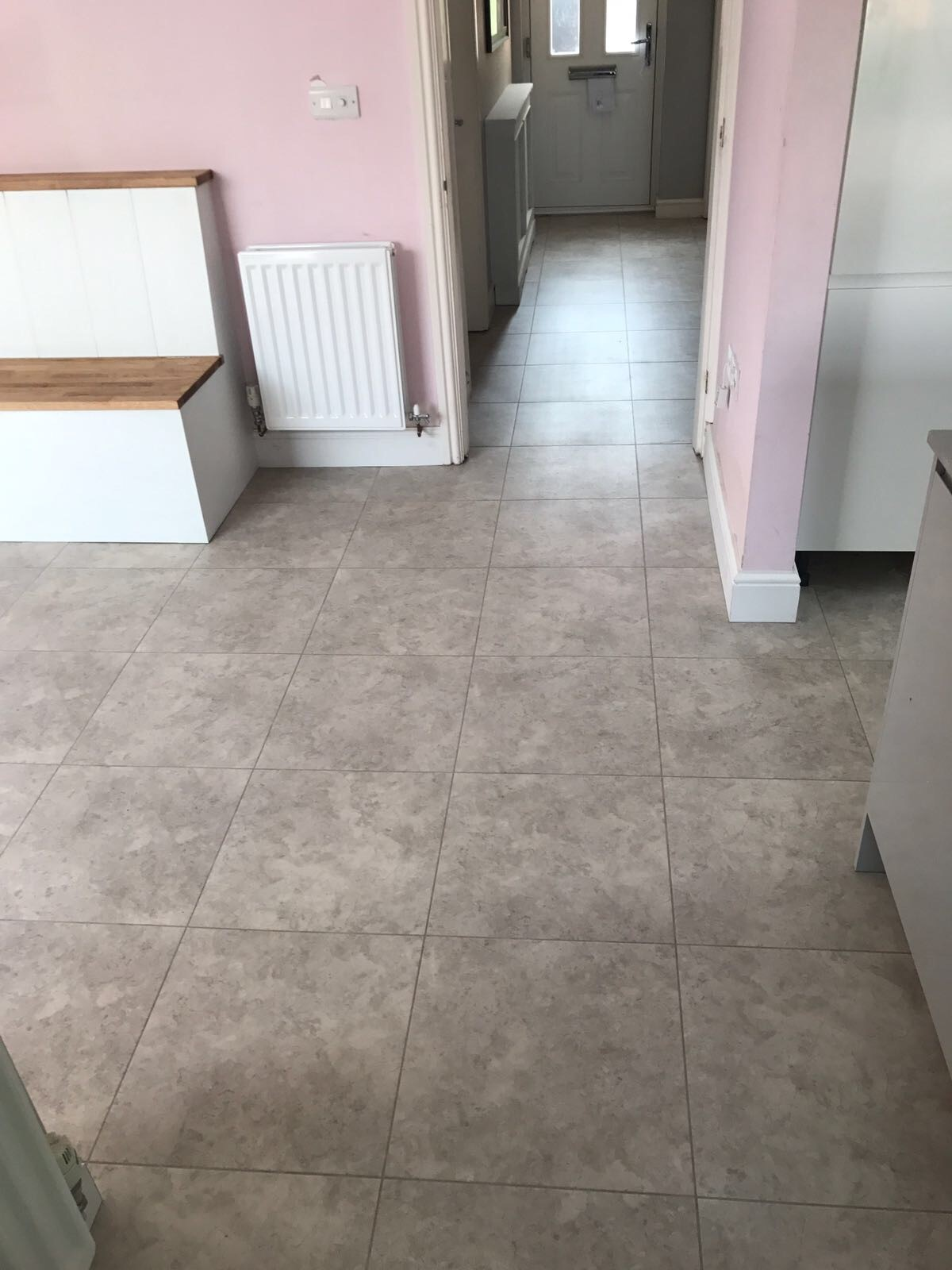 Spacia Bottocina Grey 18x18 tile supplied and installed by Michael John Carpets Leicester