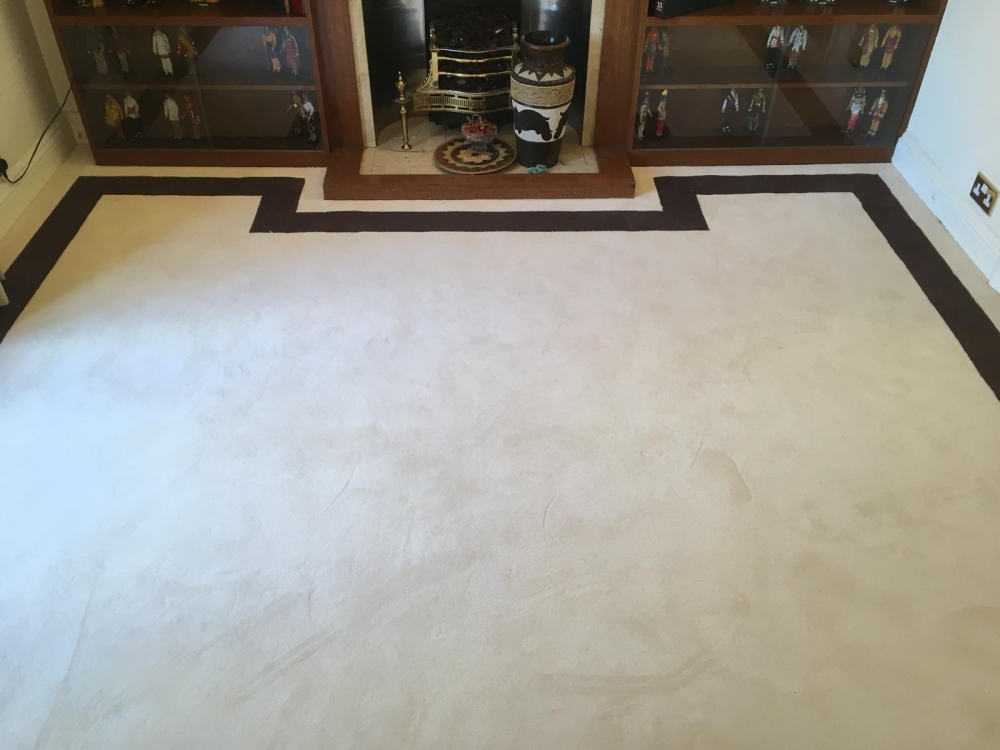 Bronte bordered carpet supplied and installed by Coraff Carpets London