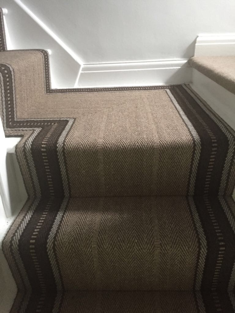 Roger Oates shetland runner supplied and installed by Arighi Bianchi