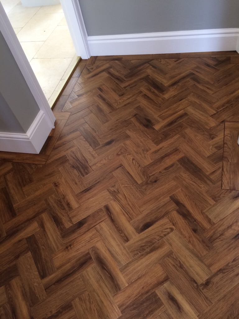 Karndean Morning Oak with DS05 stripping supplied and installed by Arighi Bianchi